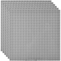 """Lekebaby Classic Baseplates Building Base Plates for Building Bricks 100% Compatible with Major Brands-Baseplate 10"""" x…"""
