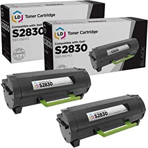 LD Compatible Toner Cartridge Replacement for Dell S2830dn 593-BBYO (Black, 2-Pack)