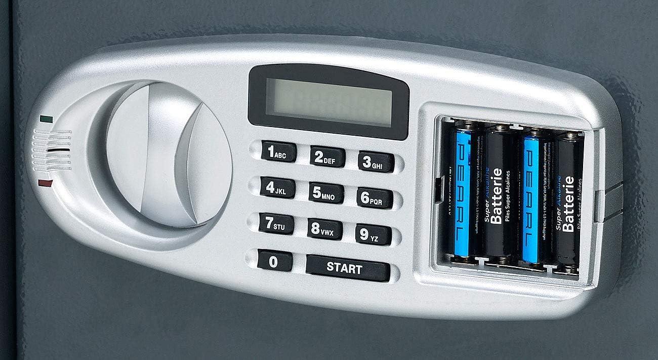 Großer-Stahlsafe mit digitalem Code-Schloss und LCD-Display Safe 50 Liter