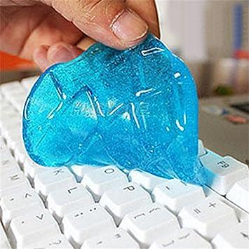 display08 Creative ordenador portátil teclado polvo suciedad limpiador Gel Limpiador Compuesto de limpieza herramienta - Color al azar: Amazon.es: Hogar