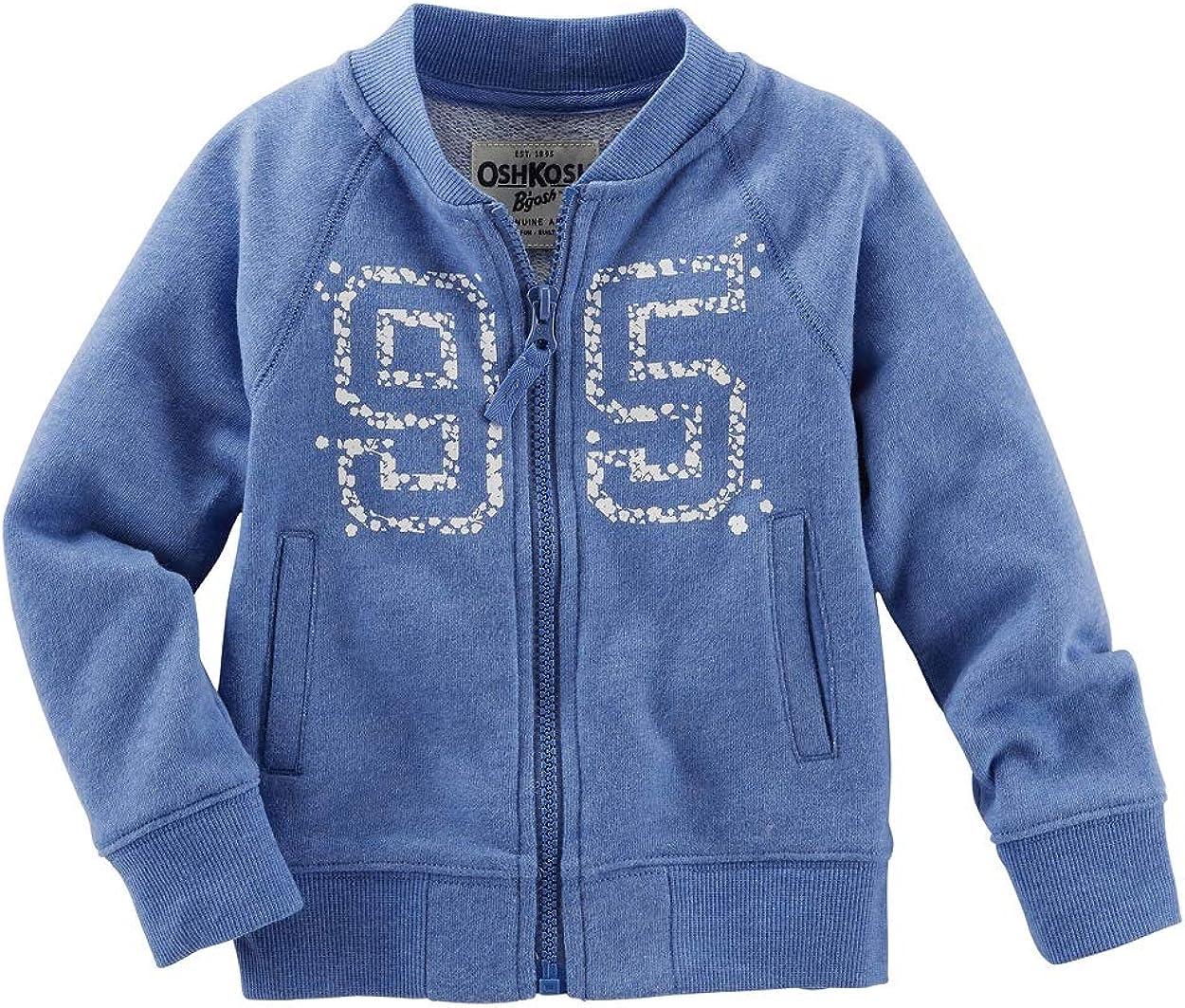 Blue OshKosh BGosh Baby Girls French Terry Bomber Jacket 12 Months