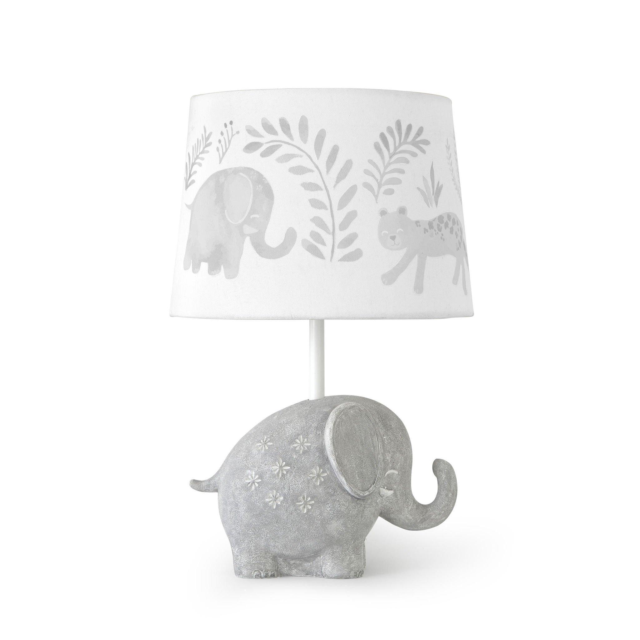 Levtex Baby Jungalo Grey Elephant Lamp Base and Shade