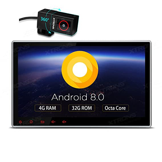 XTRONS 10 1 Inch Android 8 0 Octa Core 4G RAM 32G ROM HD Digital  Multi-Touch Screen Car Stereo GPS Radio DVD Player Adjustable Viewing  Angles OBD2