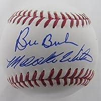 $79 » Bill Buckner & Mookie Wilson Signed 1986 World Series, OML Baseball JSA 136472