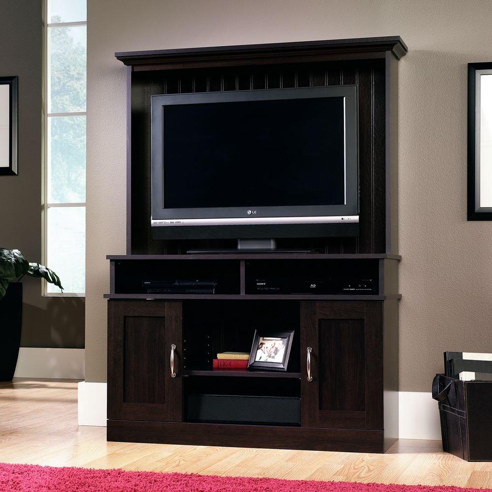 Sauder Tv Cabinet Amazoncom 41 In Entertainment Center In Cinnamon Cherry Finish