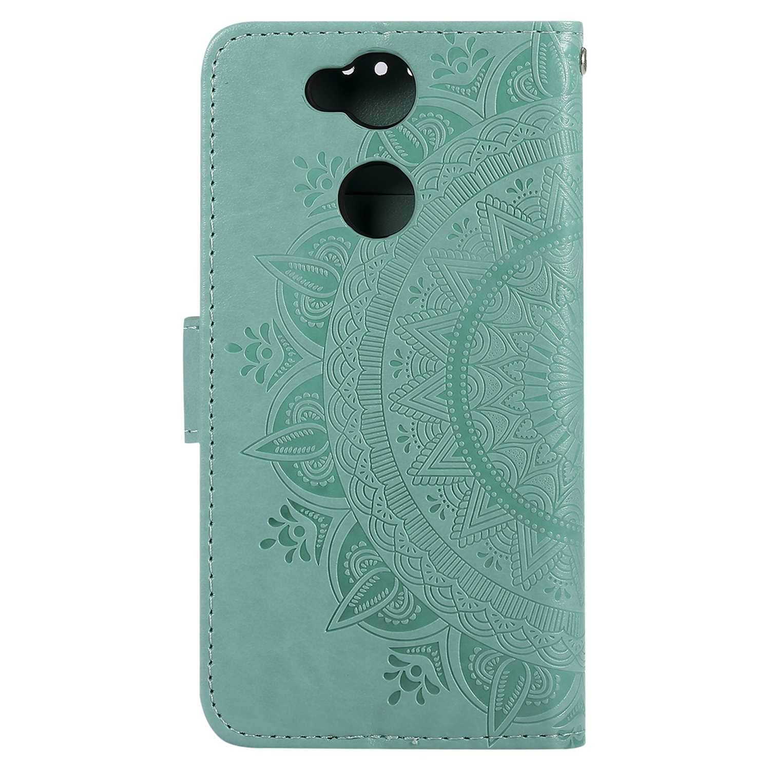 Sony Xperia XA2 Ultra Case The Grafu Leather Case Flip Notebook Cover for Sony Xperia XA2 Ultra Premium Wallet Case with Kickstand Function Card Slots Gold