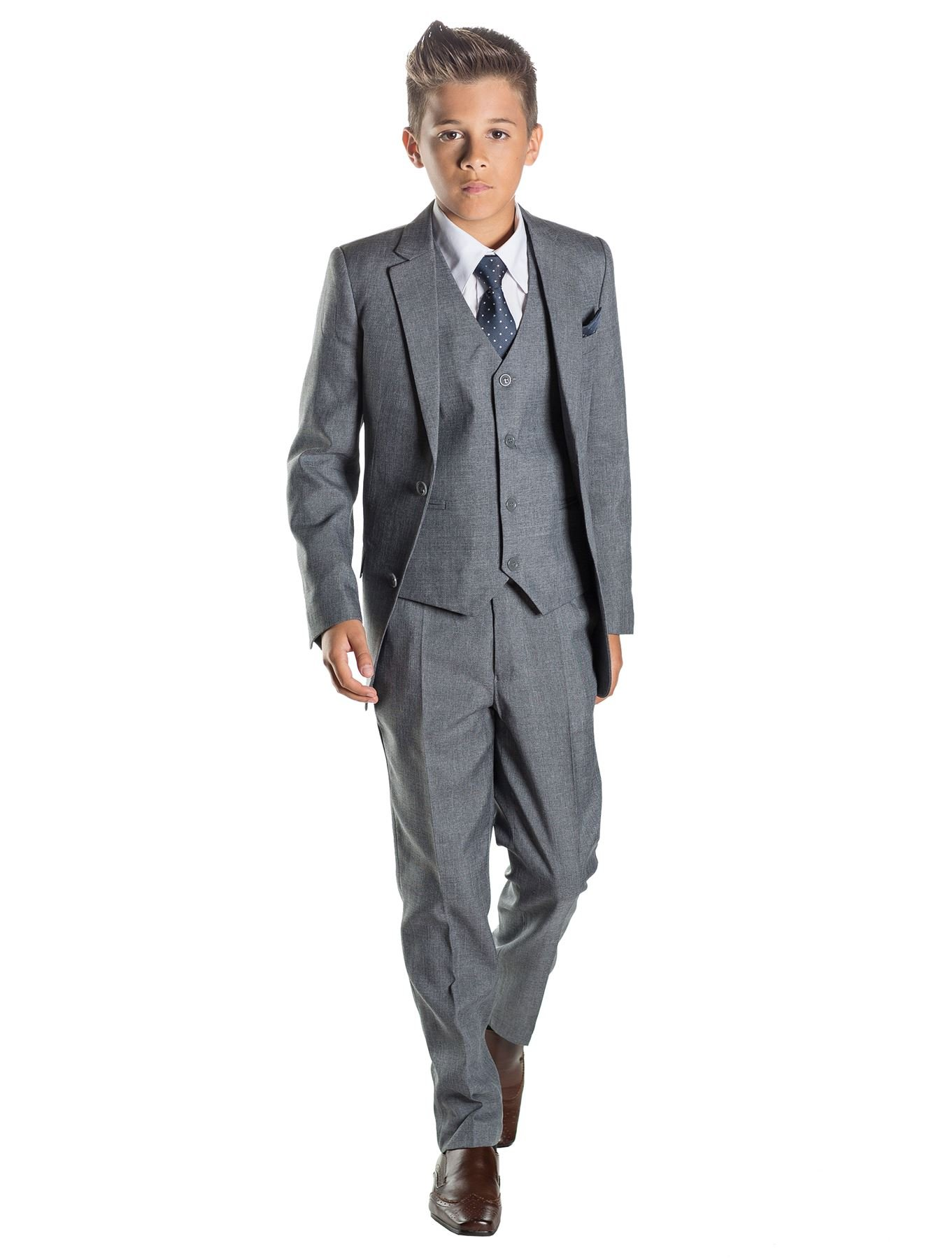 Paisley of London Boys Grey Ring Bearer Suit, 5 by Paisley of London