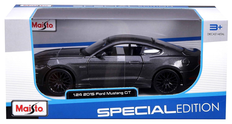 Modellino 2015 Ford Mustang Grigio Maisto 31508 Scala 1:24 Die Cast