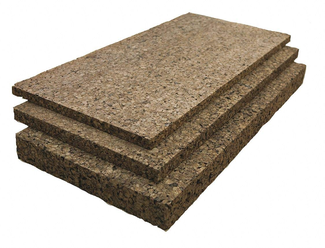 Cork Sheet, 1/2 in Th, 12x36 in - Pack of 5 by GRAINGER APPROVED