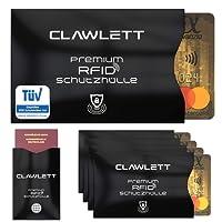 TÜV Geprüfte RFID & NFC Schutzhülle (5+1) für Kreditkarten, EC Karte, Reisepass, Personalausweis, Bankkarte - 100% Kreditkartenhüllen RFID Blocker gegen unerlaubtes Auslesen Deiner Daten