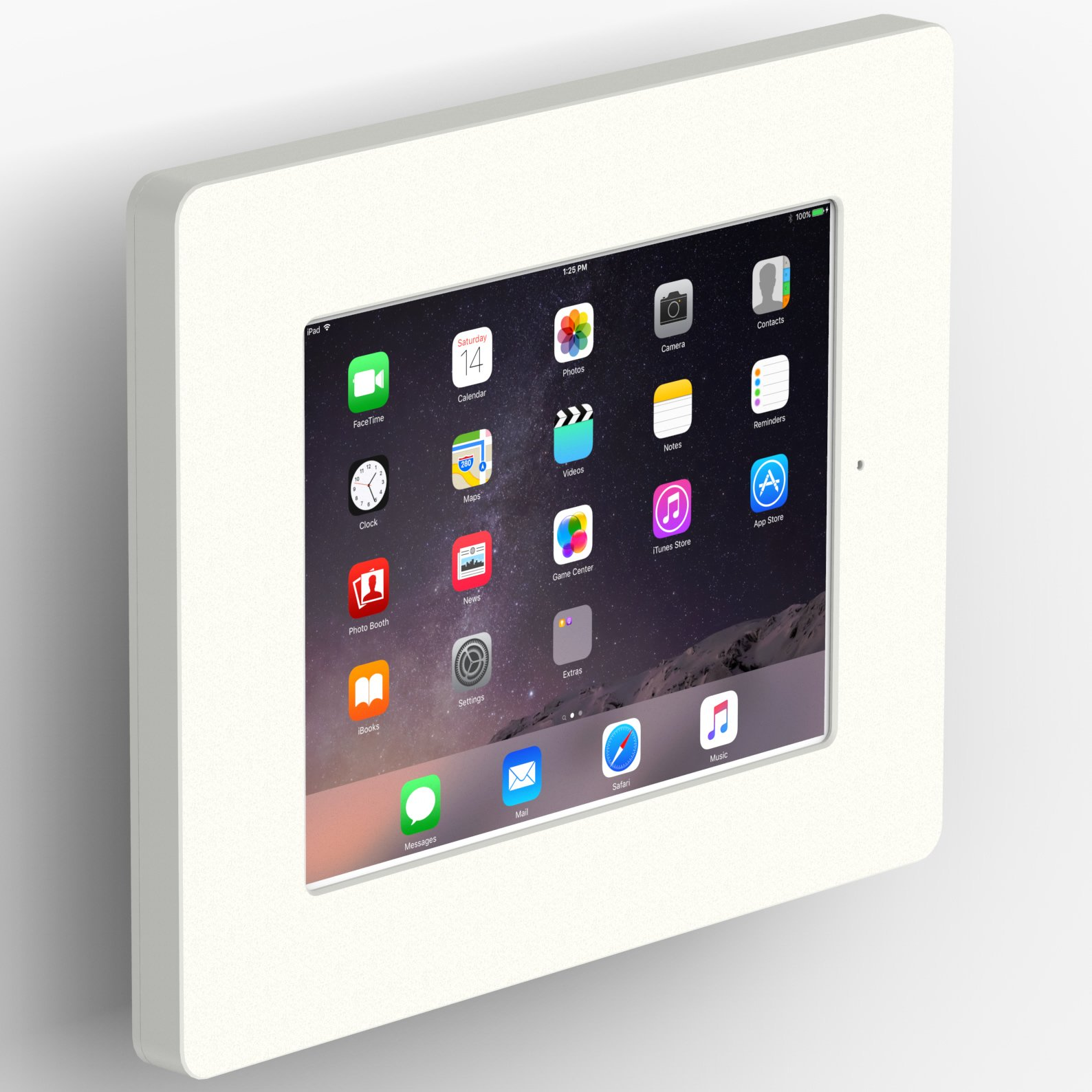 iPad 2/3/4 VESA LGrey Home Button Covered Tablet Enclosure w Tilting VESA Mount [Bundle] by VidaBox Kiosks