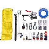 "Wynnsky 20 Piece Air Compressor Accessory Kit, w/1/4""x25Ft Coil Nylon Hose /Blow Gun/ Tire Gauge"