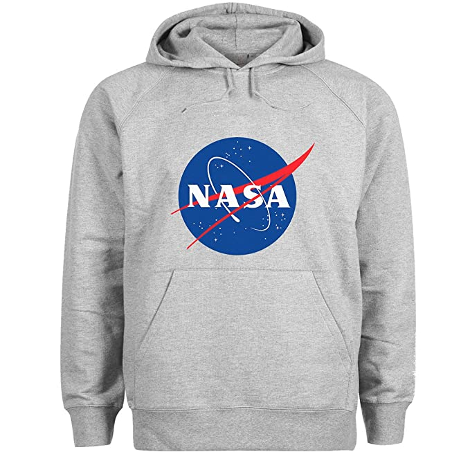 Friendly Bees NASA Logo Gris Sudadera con Capucha Unisex Large: Amazon.es: Ropa y accesorios