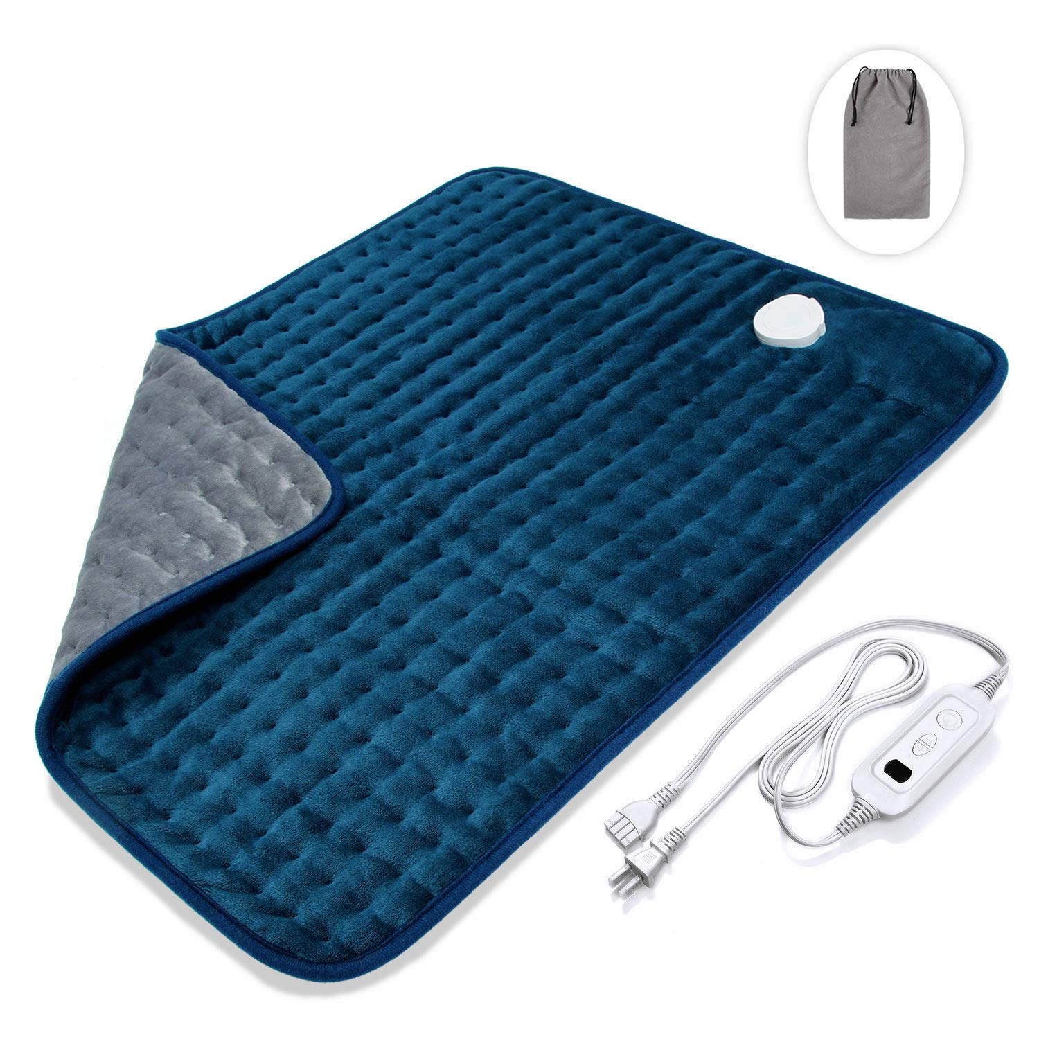 Veken XXL Electric Heating Pad with Fast-Heating Technology, Moist/Dry Heat, Auto Shut-Off and Machine Washable, 20'' x 24'' Ultra-Soft Heat Therapy Pad for Cramps/Back/Knee/Neck and Shoulders