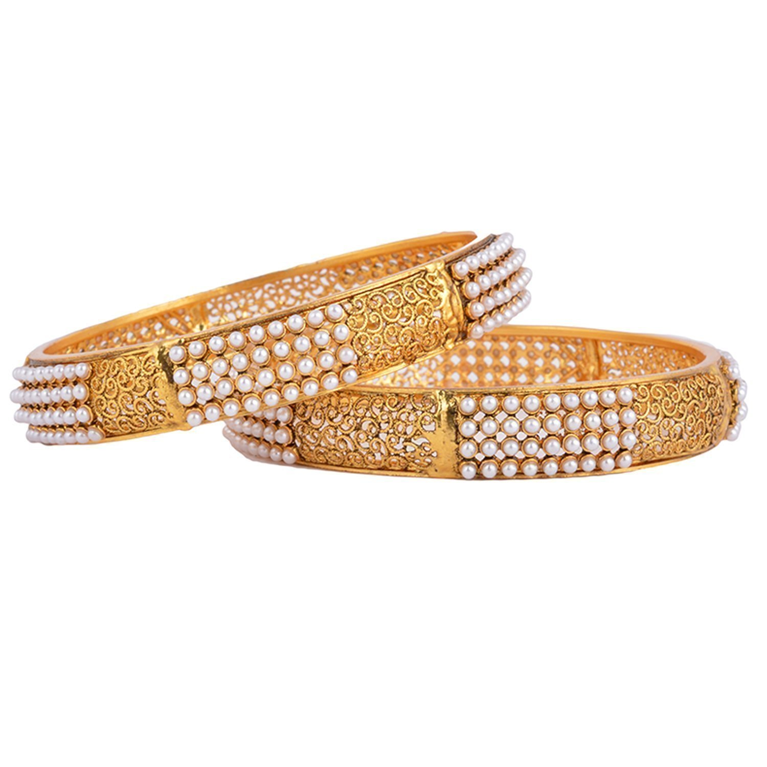 goldplated women jewelry ethnic ladies bangles itm wedding bracelet indian traditional kada