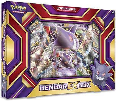 Pokemon TCG Card Game Gengar EX Box - 4 Booster Packs: Amazon.es: Juguetes y juegos