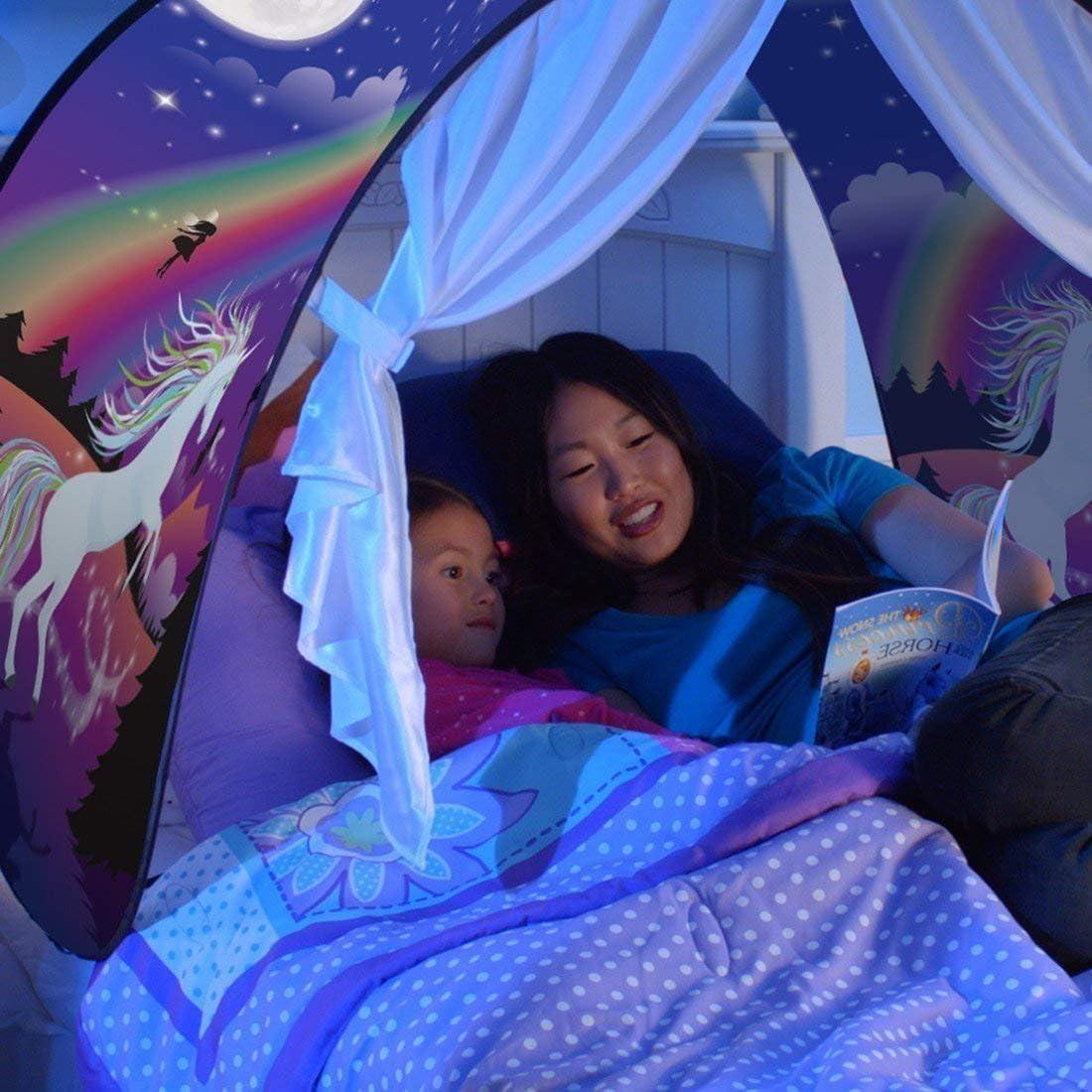 Aventure Spatiale Dream Tents Tente de Lit Enfants Tente Playhouse de Tente Apparaitre Int/érieure Enfant Jouer Tentes Cadeaux de No/ël pour Enfants