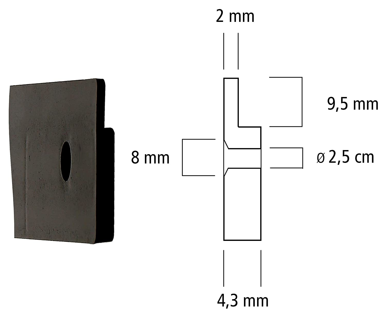 Lantelme 18 piezas Caja organizadora Abierta con soporte de pared set cajas de almacenamiento bin apilable de pl/ástico negro producci/ón alemana