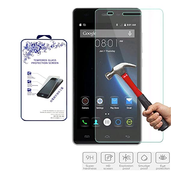 for Doogee x5 Tempered Glass,Nacodex 9H Hardness Premium Tempered Glass  Screen Protector 0 3mm 2 5D (for Doogee x5)