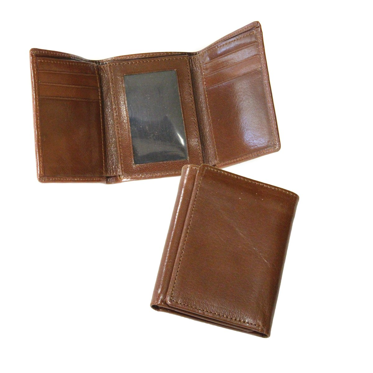 Cognac Preferred Nation Tri-fold Wallet