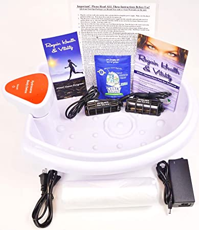 Foot Spa - DR  DETOX - Ion Detox Ionic Foot Bath Spa Chi Cleanse Unit for  Home Use  Comes