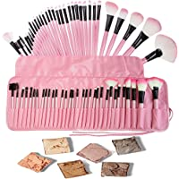 Base Maquillaje Professional Set de Brochas - RFAIKA 32 Piezas Pinceles de Maquillaje Suaves Belleza Maquillaje - Sombras de Ojos Set de Brochas Cosmético Fundación Ojo Cara Sonrojo Cepillos Polvos Maquillaje (rosa)