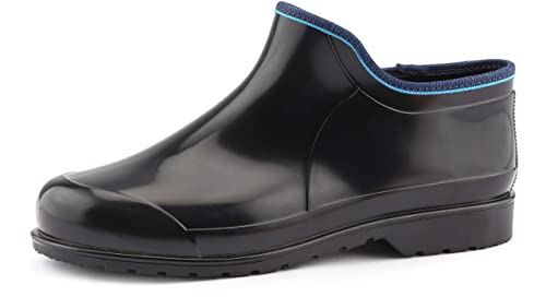 Ladeheid Botines Botas de Goma de Agua Calzado Zapatos de Seguridad Mujer LARB016(Negro,