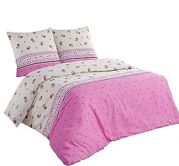 Bettwäsche 200x200 Baumwolle Bettgarnitur Mit Reißverschluss 3 Teilig L 7581