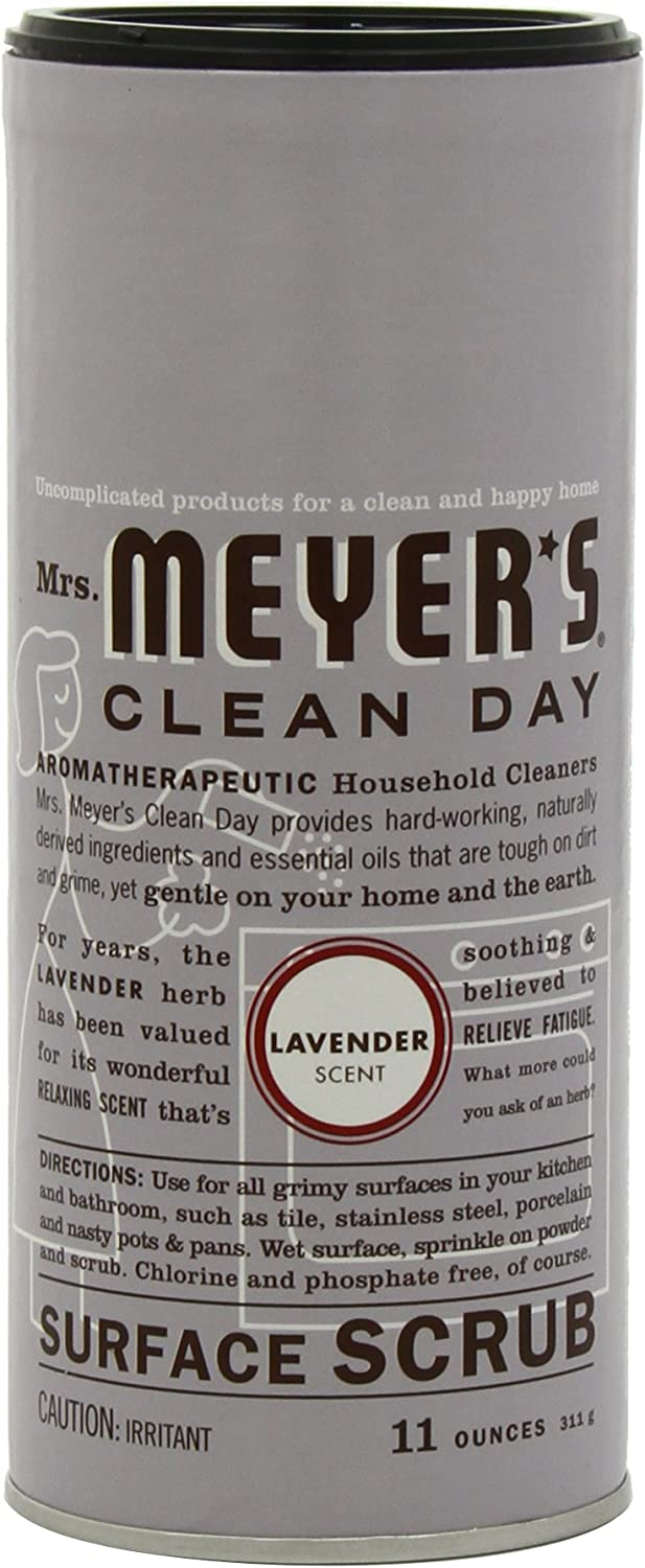 Mrs. Meyer's Clean Day Surface Scrub, Lavender, 11-Ounce Canisters (Case of 6)