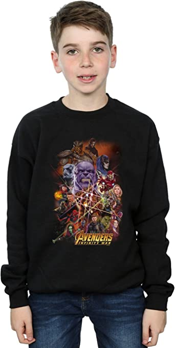 Marvel Niños Avengers Infinity War Character Poster Camisa De Entrenamiento: Amazon.es: Ropa y accesorios