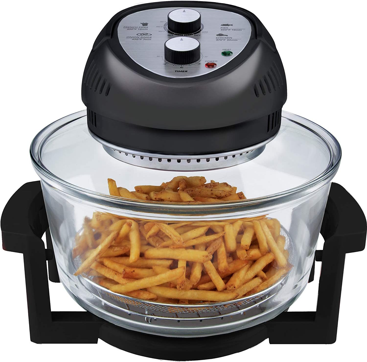 Big Boss Oil-less Air Fryer, 16 Quart, 1300W, Easy Operation with Built in Timer