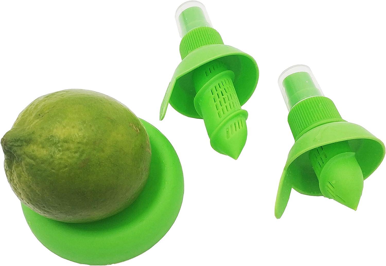 NeverShift Citrus Sprayer - Lemon Juice Squeezer with spray & Holder Plate for Lemon, Lime, Grapefruit & Orange (Green)