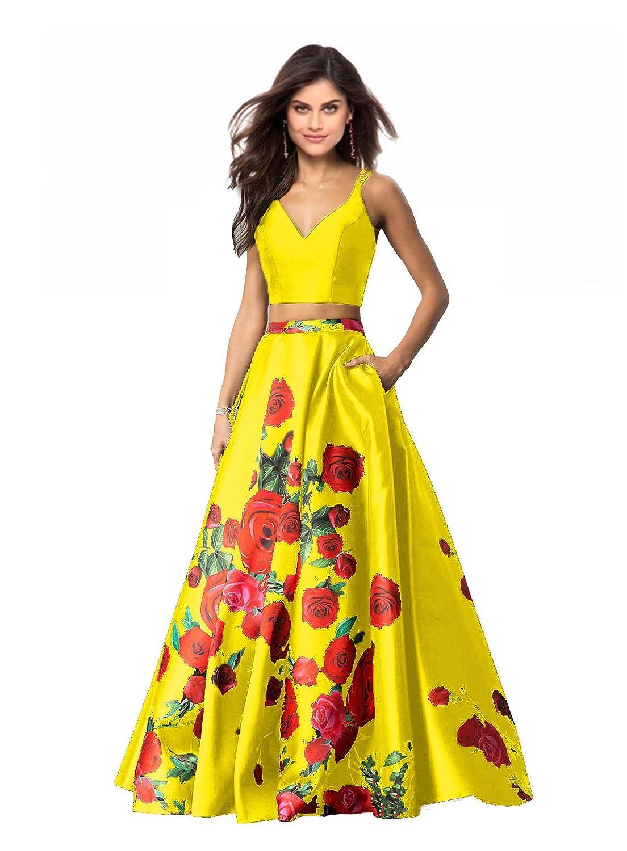 Lily Wedding DRESS レディース 8 イエロー B07BKZKXN9