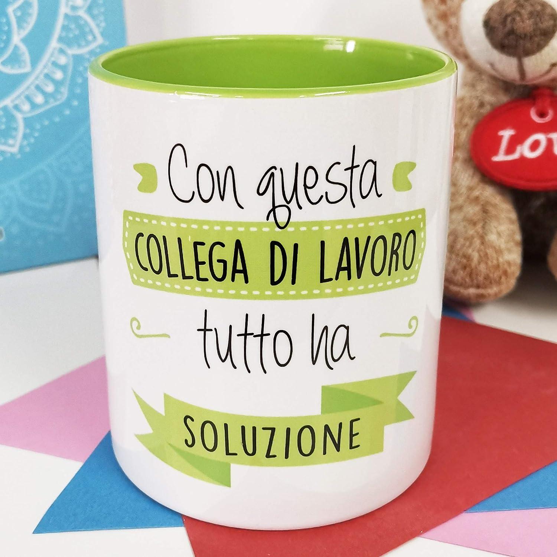 La Mente è Meravigliosa - Taza con Frase y Dibujo Divertido - Regalo Original (Diseño Compañera Trabajo) (Italiano)