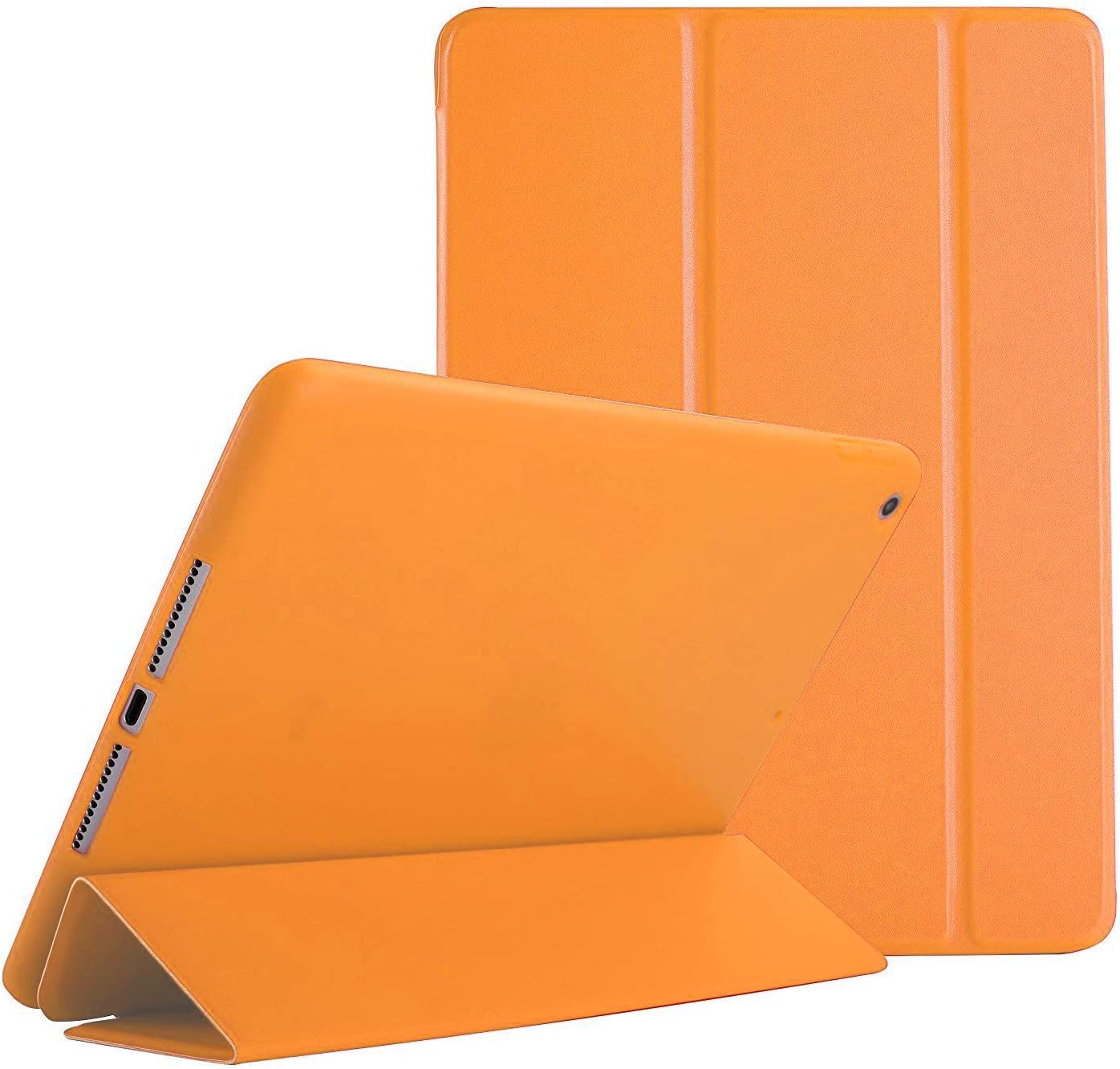 DuraSafe Cases For iPad 7.9 Inch Mini 3 Mini 2 Mini 1 Gen Protective Durable Shock Proof Supportive Magnetic Dual Angle Stand Cover - Orange