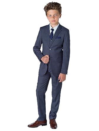 Paisley of London Traje para niño, estilo formal, color gris, de 1 a 13 años
