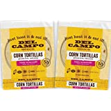 Del Campo Soft Corn Tortillas – 6 Inch Round 1 Lb. Bag. 100% Natural, Gluten Free, All-Corn Authentic Mexican Food. Serving Options: Wraps, Tacos, Quesadillas or Burritos. Kosher.16ct./(Pack of Two)