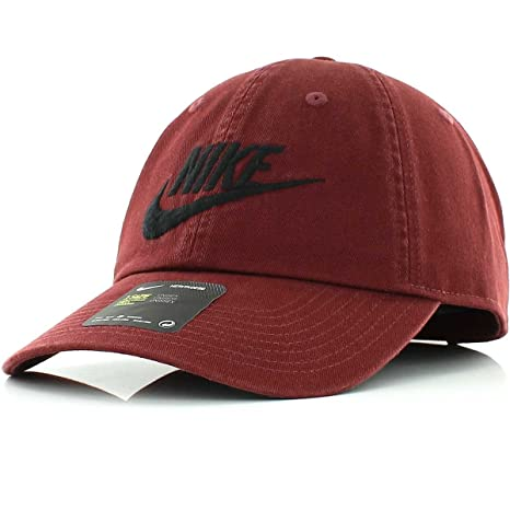 5a4bba85259 ... liked on polyvore featuring mens fashion 23f9f 7b562  coupon code for  nike mens h86 futura washed strapback hat dark team red black 626305 619