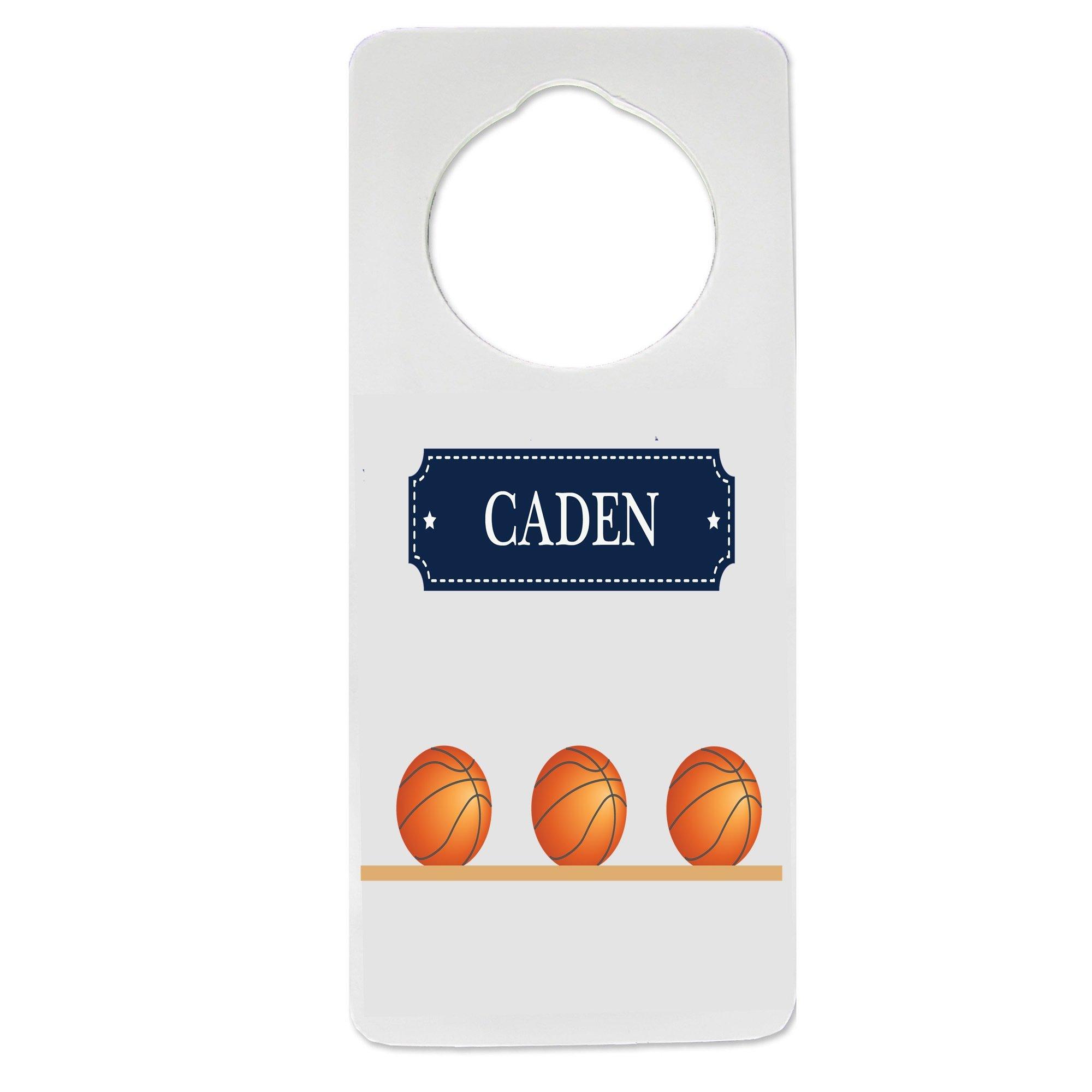 Personalized Basketballs Nursery Door Hanger