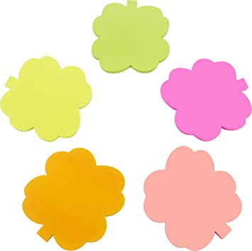 amazon com 4a shapes sticky note tree shape 2 6 x 2 71 inches neon