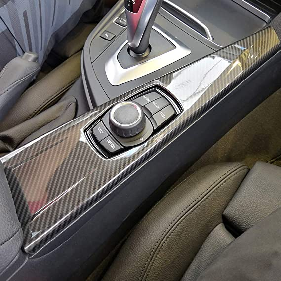 Diyucar Carbon Faser Stil Abs Multimedia Dekoration Panel Besatz Für 3 Serie F30 F31 F33 F34 F36 2014 2018 Links Hand Drive Auto