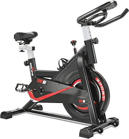 Amazon.com : RELIFE REBUILD YOUR LIFE Exercise Bike Indoor Cycling ...
