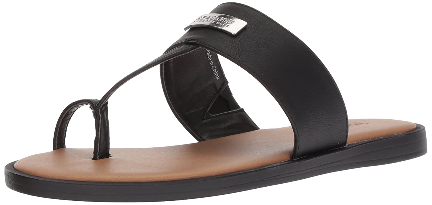 c3eb14b28e1a Amazon.com  Kenneth Cole REACTION Women s Scroll in Flat Sandal with Toe  Ring  Shoes