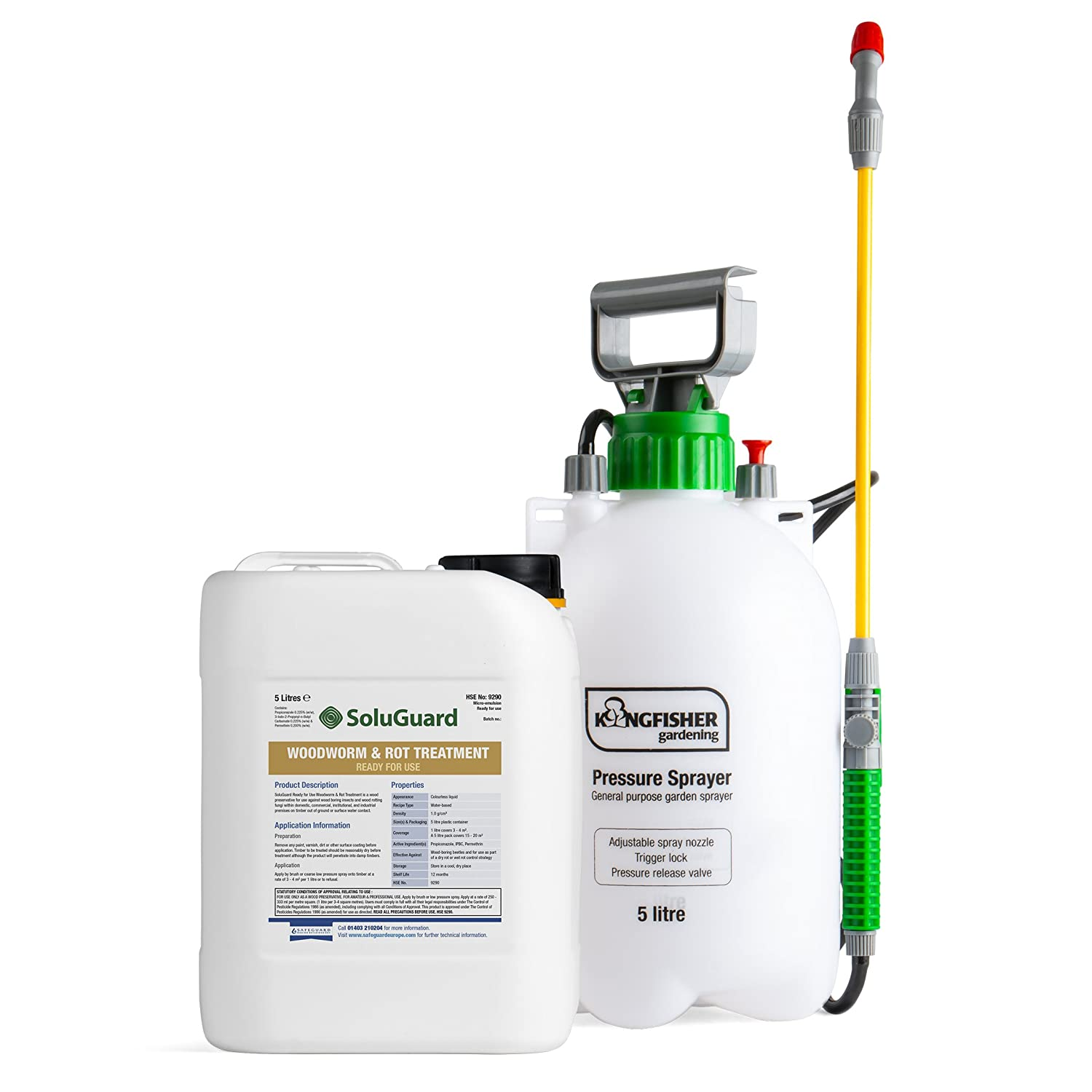Soluguard Woodworm and Rot Treatment- Ready for Use + 5l Pump Sprayer Safeguard Europe Ltd