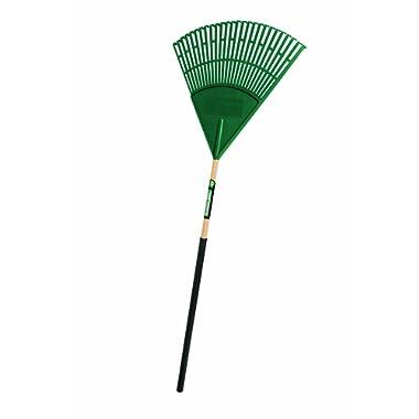 Truper 30463 Tru Tough Plastic Leaf Rake, 24-Inch Head, 36-Inch Comfort Grip, 48-Inch