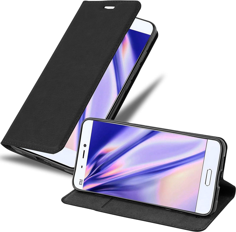Cadorabo Funda Libro para Xiaomi Mi 5 en Negro Antracita – Cubierta Proteccíon con Cierre Magnético, Tarjetero y Función de Suporte – Etui Case Cover Carcasa