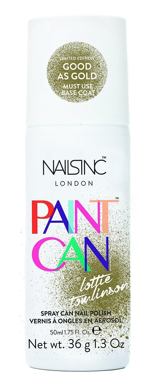Spray on nail polish china glaze nail spray reviews - Nails Inc Paint Can Nail Polish Good As Gold