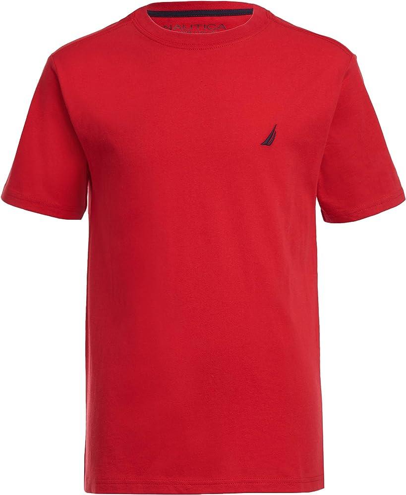 Nautica Boys 2-Pack Short Sleeve Solid T-Shirts