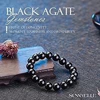 Sunnyclue Naturel authentique Jaune œil de tigre pierres précieuses Bracelet stretch Perles rondes 8 mm environ 17,8 cm Unisexe
