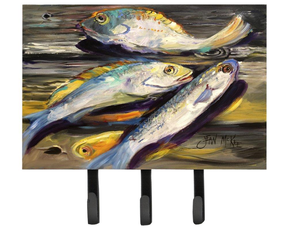 Multicolor Carolines Treasures JMK1116TH68 Fish on The Dock Leash or Key Holder Large